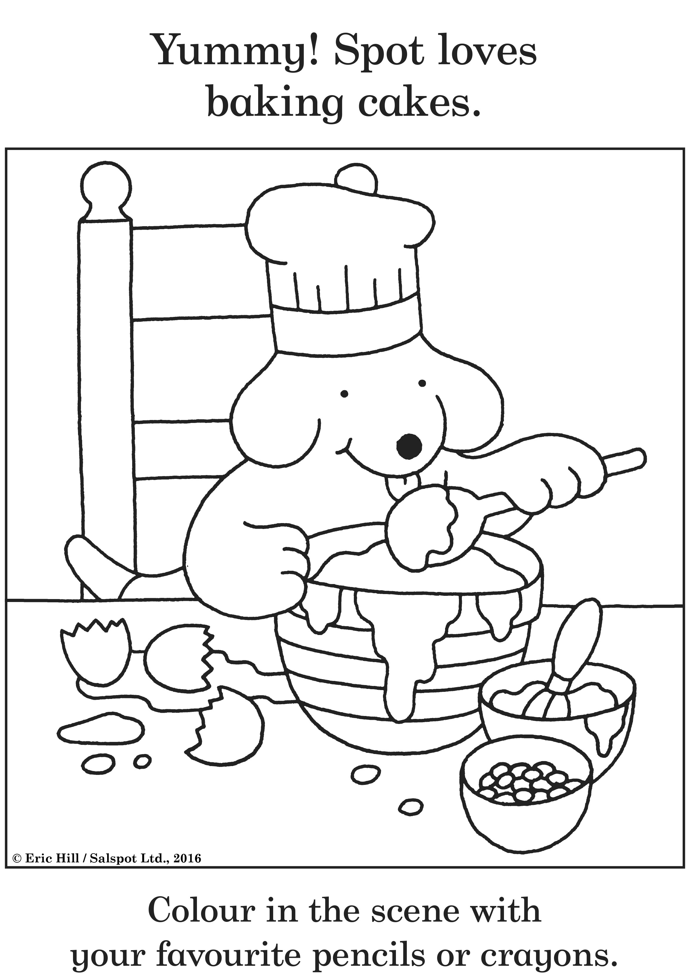 spot the dog coloring pages - photo#8